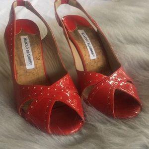 Manalo Blahnik red heels